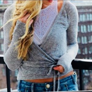 Aerie wrap sweater